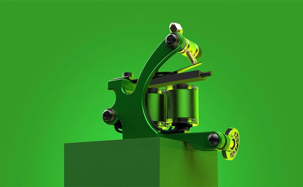 CNC M310 Green Pigeon Coil Tattoo Machine