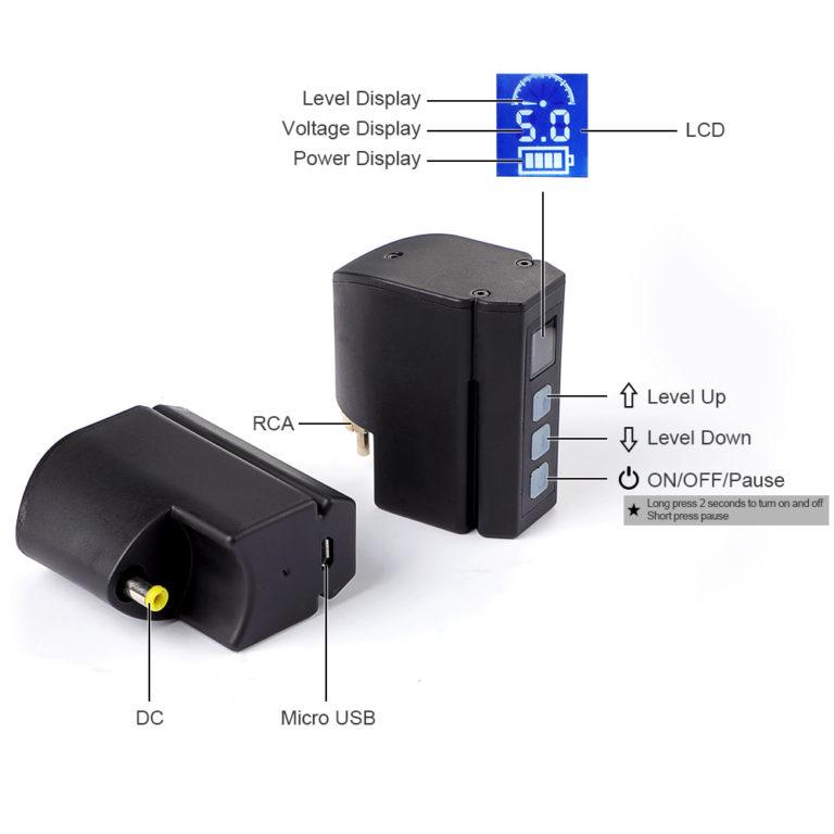 P198 wireless tattoo power supply dc & rca parameters