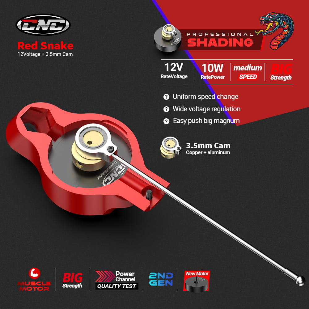 rotary tattoo machine CNC T4 red snake professional for shading